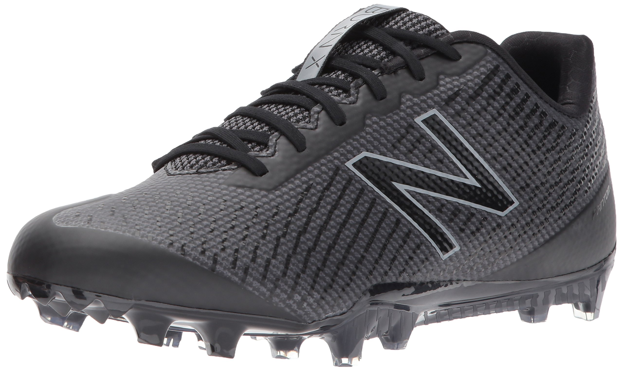 New Balance Men's Burn Low Speed Lacrosse Shoe, Black, 9.5 2E US by New Balance