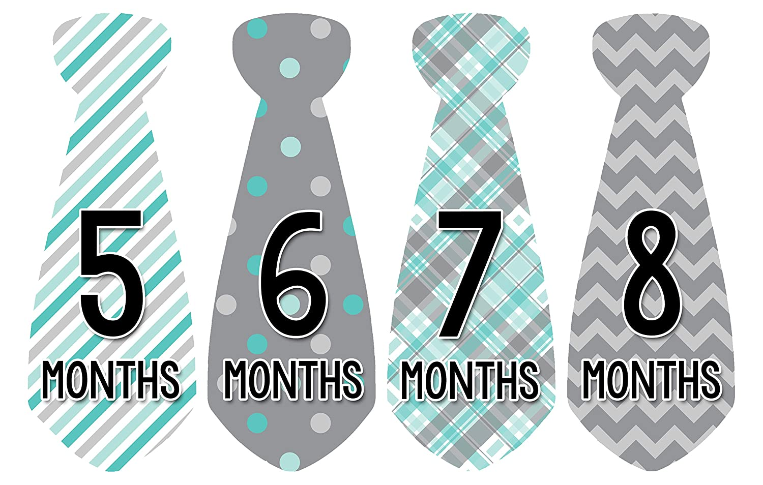 amazon com months in motion 712 monthly baby stickers necktie