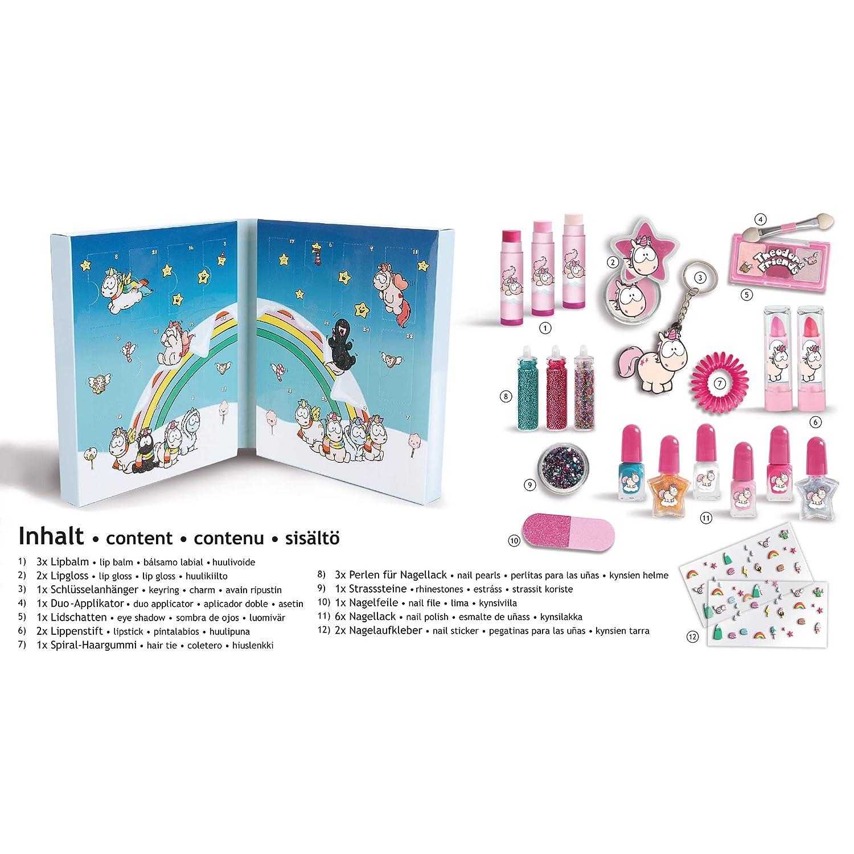 Calendario De Adviento Maquillaje.Accentra Unicornio Calendario De Adviento Beauty Para Nina Y Mujer