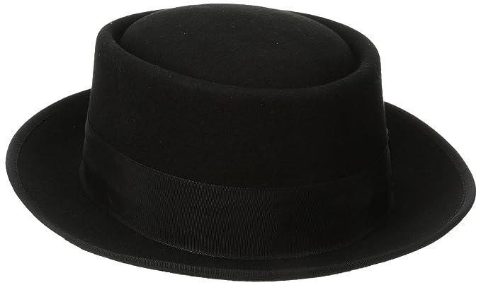 Stacy Adams Men s Wool Rocker Fedora at Amazon Men s Clothing store   Porkpie Hat Black 8b5e4340013