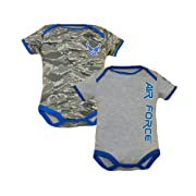 U.S.A.F. 2pk Baby Boys Air Force Bodysuits Blue Gray 9-12 Months
