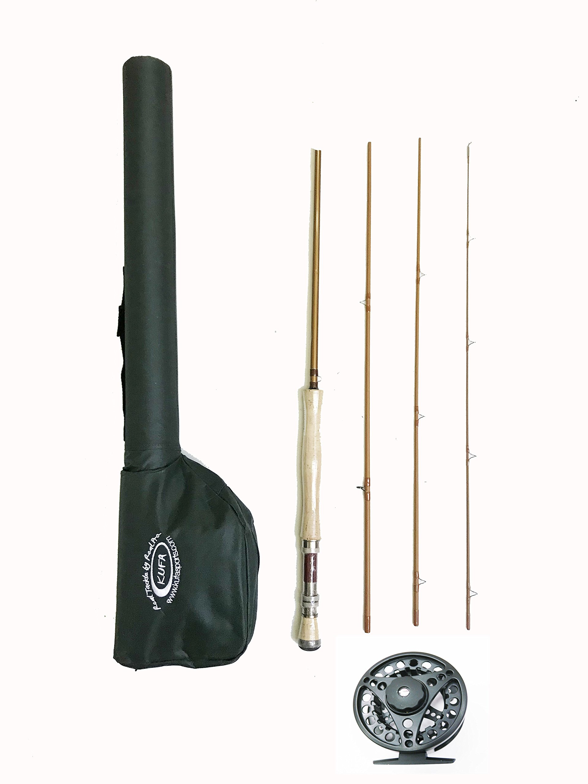 KUFA Sports 9' Graphite Fly Fishing Rod (4-Section, Line Weight #7/8), Aluminum Fly Reel & Carry Case Combo KFL9478+FR78+FL96 by KUFA Sports