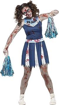SmiffyS 45614S Disfraz De Animadora Zombi Con Vestido Y Pompones ...