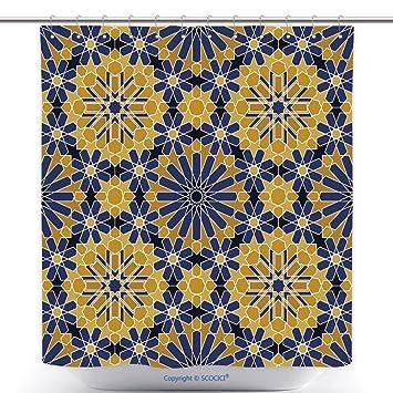 Fun Rideaux De Douche Zellige Carrelage Marocain Transparente Motif Razil  Maure Fond Islamique Texture 422291905 Polyester