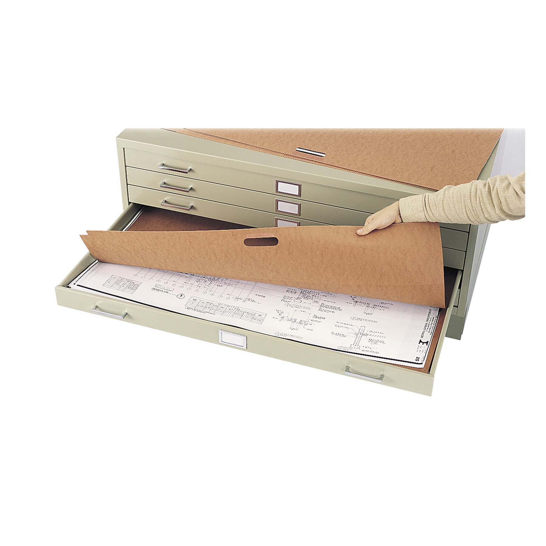 Safco Products 3011 Plan File Portfolio for use with 5-Drawer Steel Flat File 4994, sold separately, Brown