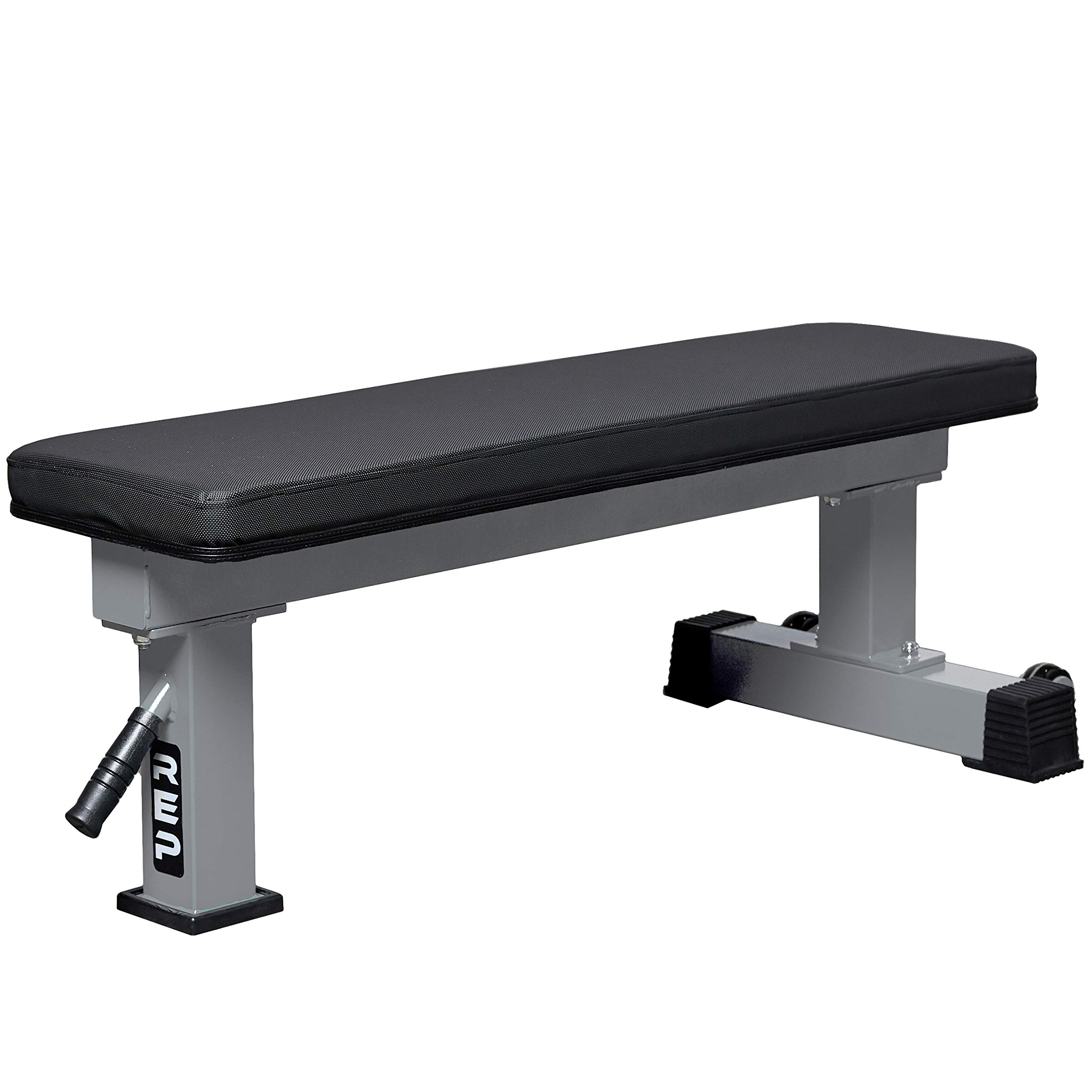 REP FITNESS FB-4000 Competition Light Flat Bench - Silver by REP FITNESS