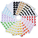 Hotop 312 Pieces Photo Corners Self Adhesive for DIY Scrapbook, Picture Album, Personal Journal, Dairy More (Color 1)