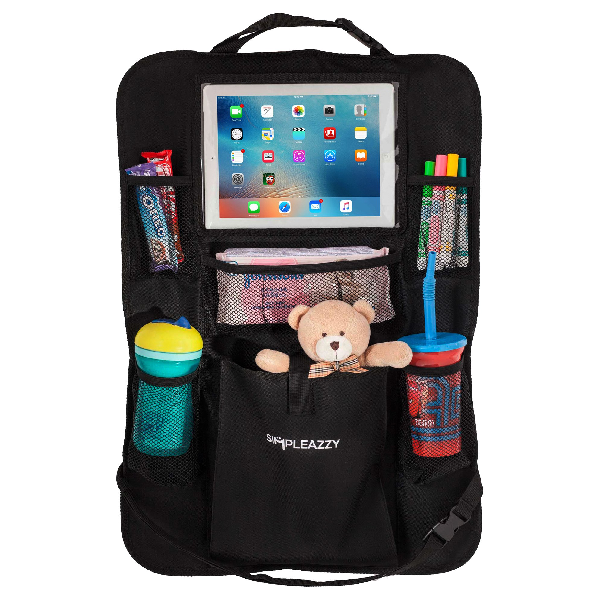 Backseat Car Organizer & Kick Mat: Back of Seat Storage & Organization for Kids by simpleazzy