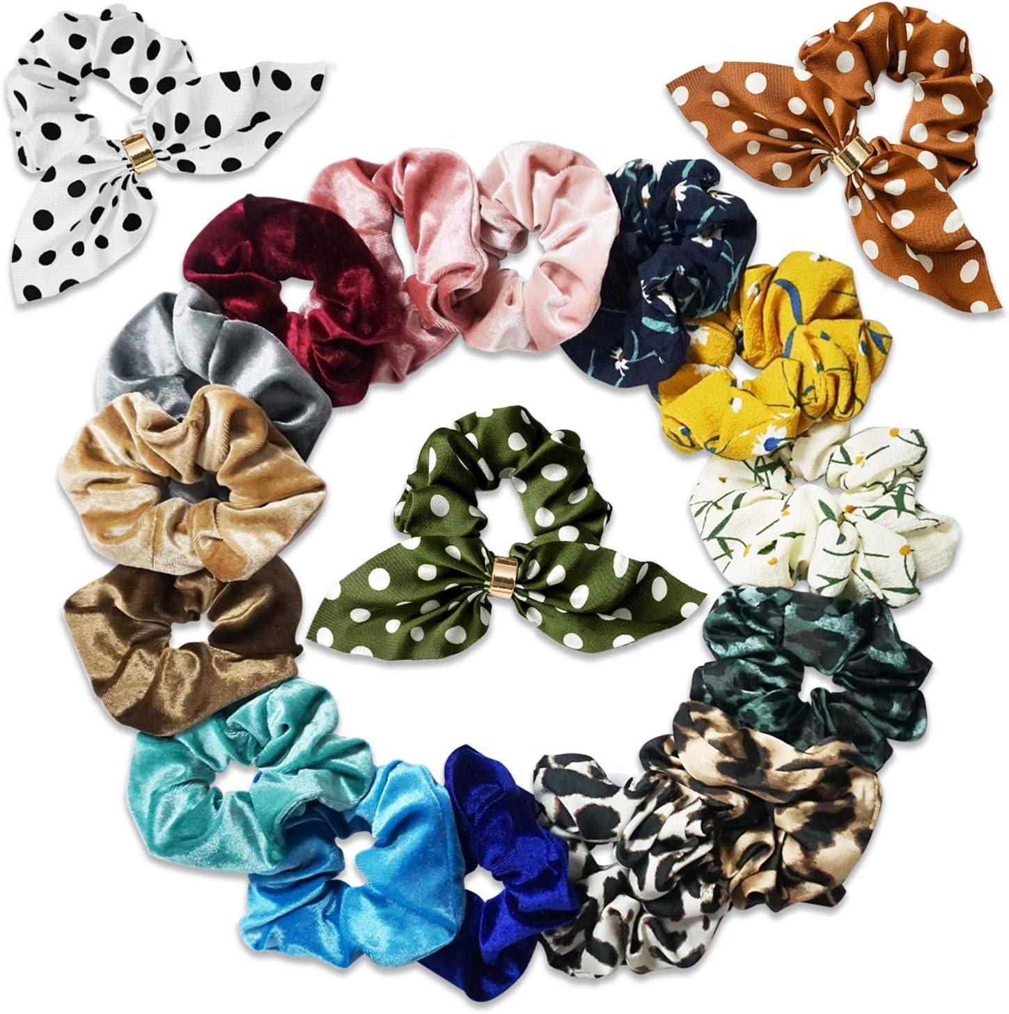 SYOSIN Scrunchies Set, Cintas para el pelo Multi Color - Cintas para el cabello de calidad premium para accesorios para el cabello para niñas,Diseño retro para niñas