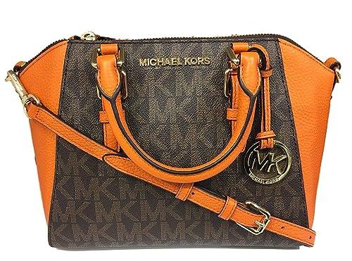 0b0366a0afb1 Michael Kors Ciara Medium Messenger Brown Tangerine: Amazon.ca: Shoes &  Handbags