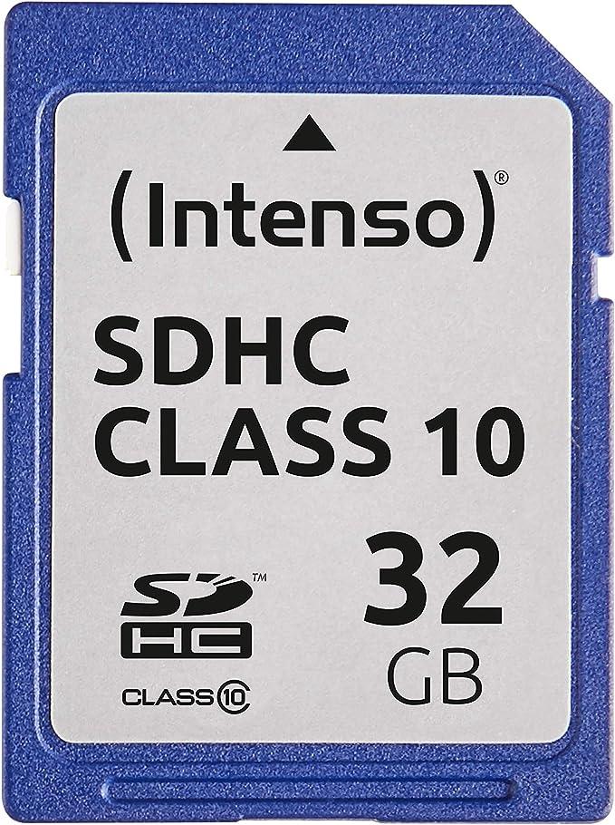 Intenso Sdhc 32gb Class 10 Speicherkarte Blau Computer Zubehör