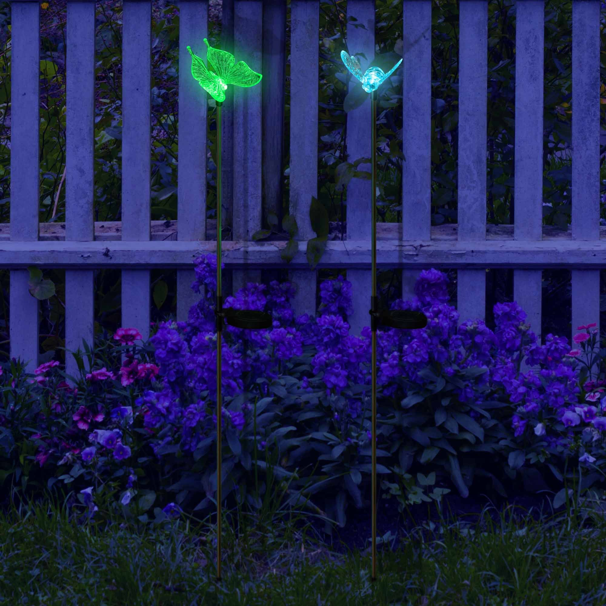 SolarDuke Solar Garden Outdoor Stake Lights Butterfly and Bumble Bee Garden Lighting Path Decoration Color Changing Patio Lawn Backyard Decor by SolarDuke (Image #7)