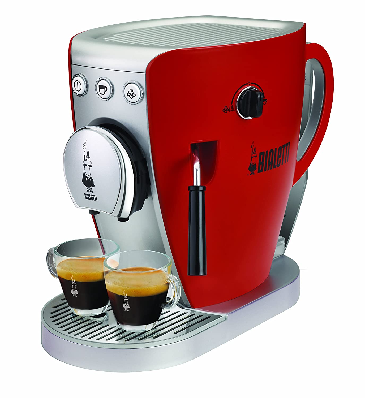 Bialetti - Cafetera con sistema abierto Tazzissima rojo: Amazon.es: Hogar