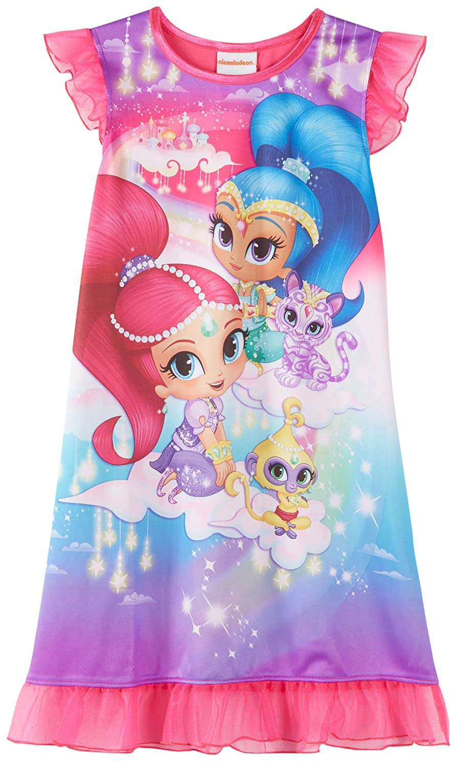 Nick Jr Shimmer and Shine and Pets Nightgown for Little Girls AME