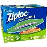 Ziploc Easy Open Tabs Sandwich Bags, 1000 CT
