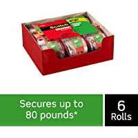 Scotch Tough Grip Moving Packaging Tape, 1.88 in. x 22.2 yd, 1.5 in Core, 1 Roll with Dispenser/Pack (150-6)