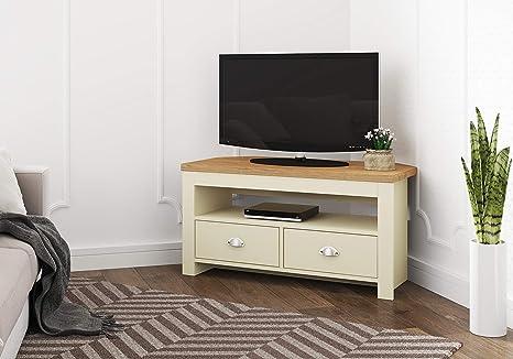 brand new 7936d f7701 Birlea Winchester Corner TV Unit Cream & Oak Effect, Medium Density  Particle Board, One Size