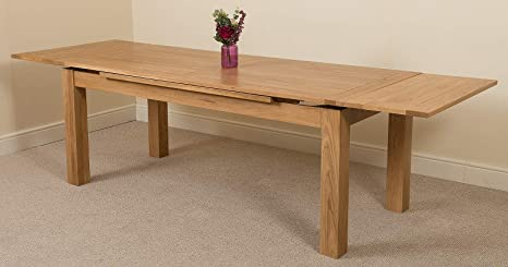 8 10 Seater Extendable Dining Table Large Oak Dining Table 200 Cm 280cm Oak Extending Dining Table Minimal Assembly Richmond By Oak Furniture King Amazon Co Uk Kitchen Home