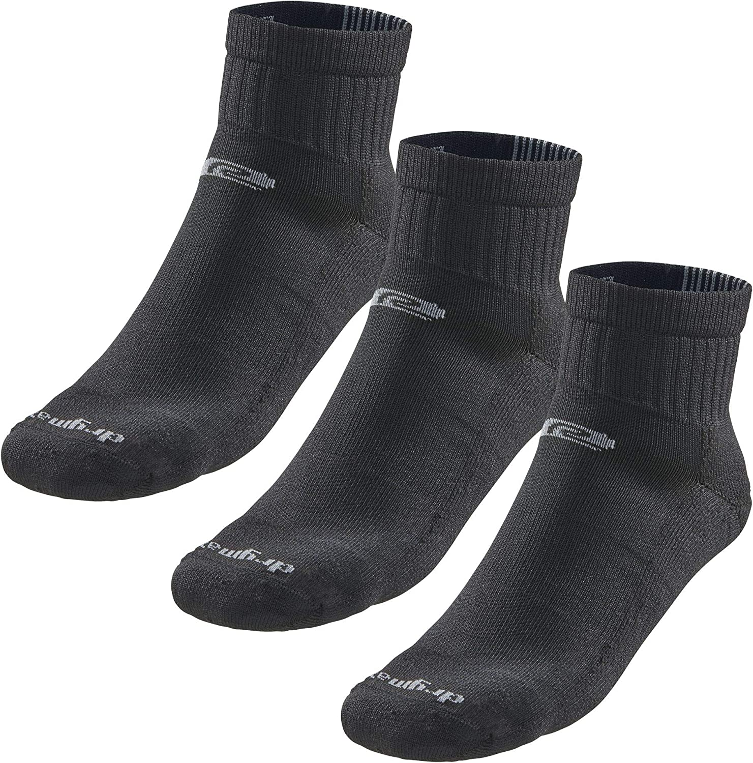 Drymax R-Gear Quarter Running Socks for Men/Women (3-Pack) | Super Breathable Keep Feet Dry, Comfy and Blister-Free