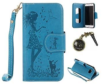 PU cubierta de caso Smartphone Samsung Galaxy S7 Edge PU de cartón ...