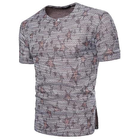 Camiseta Hombres, ❤ Manadlian Moda Blusa de manga corta para hombres Sudadera con capucha