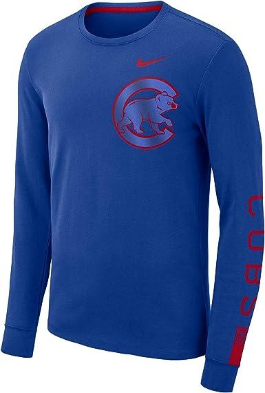 Nike Chicago Cubs MLB - Camiseta de manga larga de algodón para ...