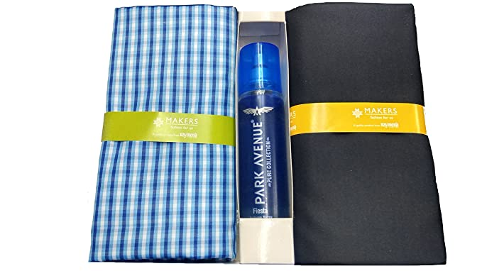 5bac27282 Raymond Makers Unstitched Fabric For Shirt   Trouser Combo with Free  perfume gift set for men