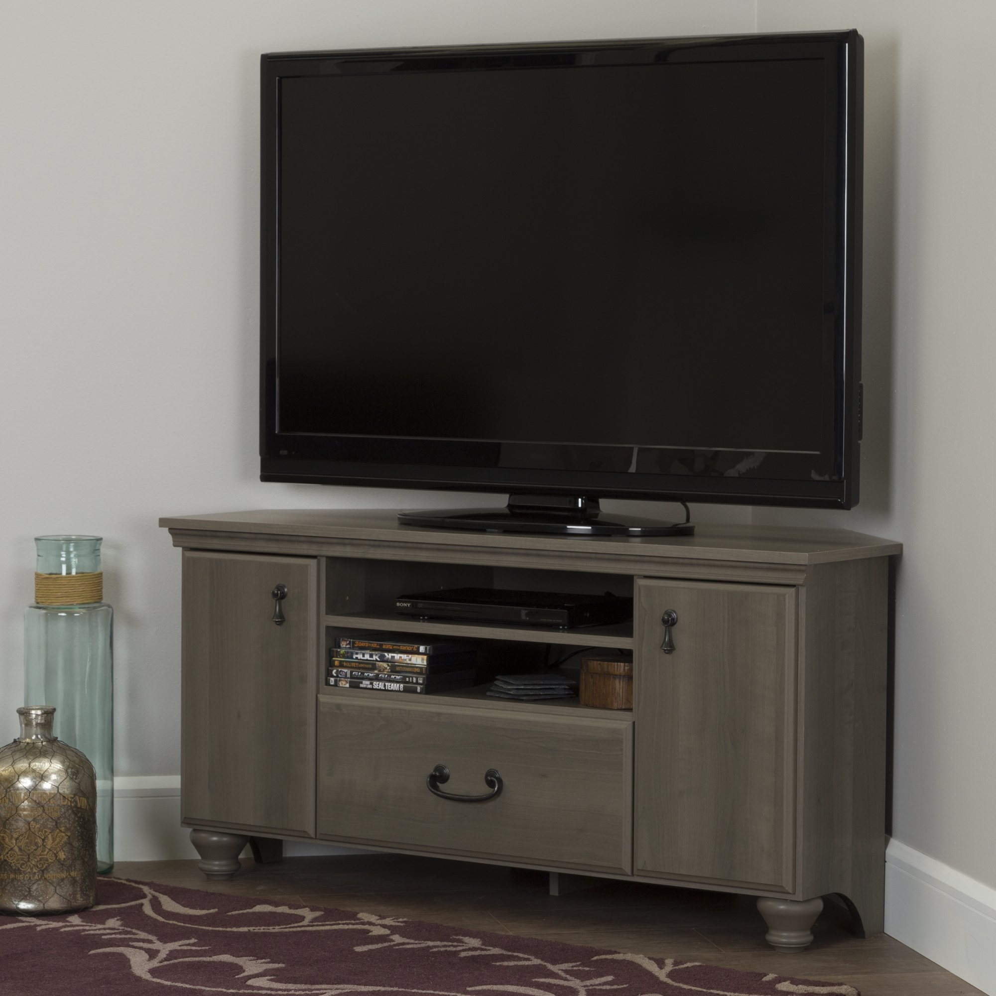 Noble Corner TV Stand - Fits TVs Up to 55'' Wide - Gray Maple - by South Shore