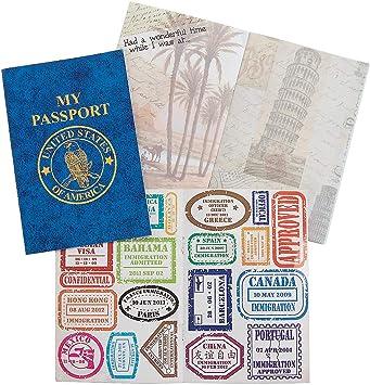 Fun Express Passport Sticker Book (1 Dozen) - Bulk: Amazon.co.uk: Toys & Games