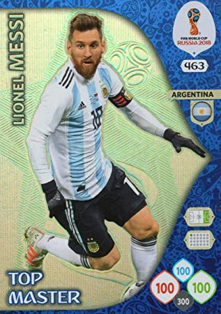 1629661f0 ADRENALYN XL FIFA WORLD CUP 2018 RUSSIA - LIONEL MESSI TOP MASTER TRADING  CARD - ARGENTINA #463: Amazon.co.uk: Sports & Outdoors