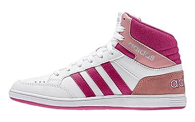 Vlneo Rosa K Hoops Tennisschuhe Mdchen Mid Blanco Adidas 60dq6