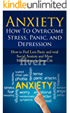 Anxiety: How To Overcome Stress, Panic, and Depression: How to Feel Less Panic and Void Social Anxiety and More Mindfulness in Your Life