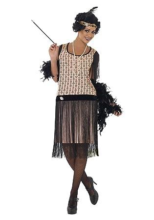 Smiffys Womens Plus Size 1920s Coco Flapper Fancy Dress Costume 1x