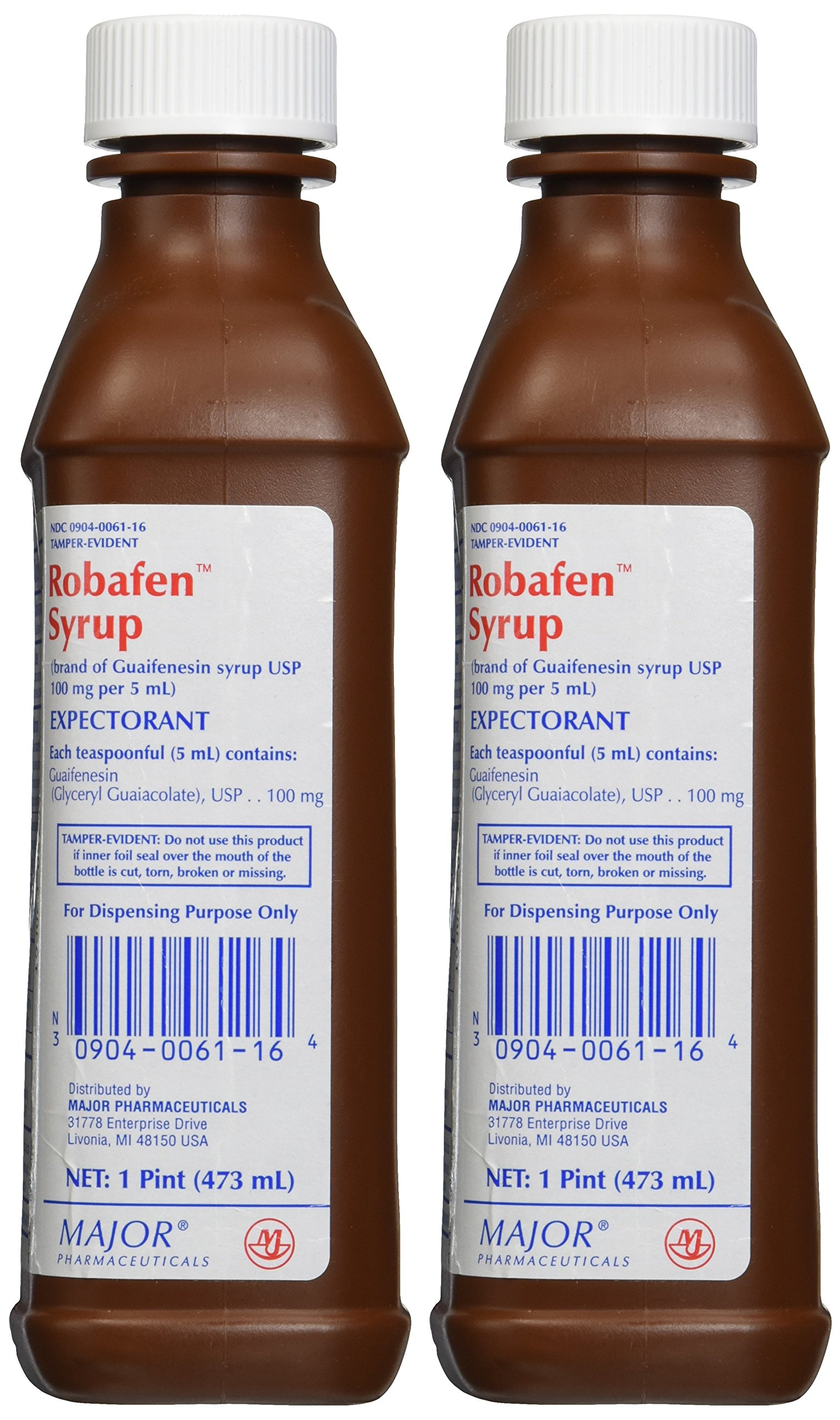 [2 Pack] Robafen Mucus And Chest Congestion Guaifenesin 100Mg/5Ml 1 Pint (16 Ounces) X 2 Bottles *Compare To The Same Active Ingredients Found In Robitussin And Save* by ROBITUSSIN® MUCUS AND CHEST CONGESTION