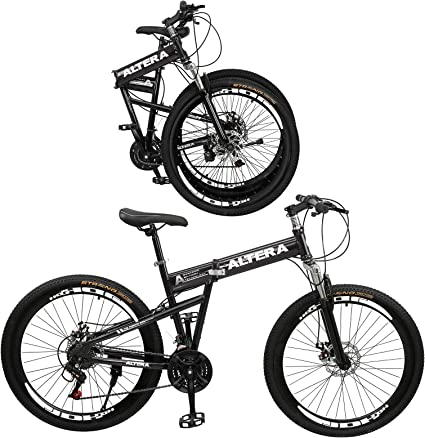 perfk Frenos de Bicicleta Delanteros y Traseros para Bicicleta Plegables de Monta/ña Negro