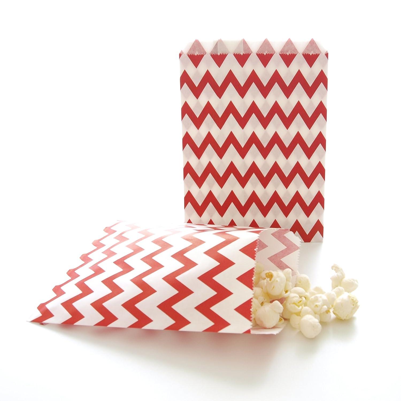 Amazon.com: Rojo Bolsas de fiesta, papel Navidad Candy Treat ...