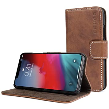 iphone xs leather flip case