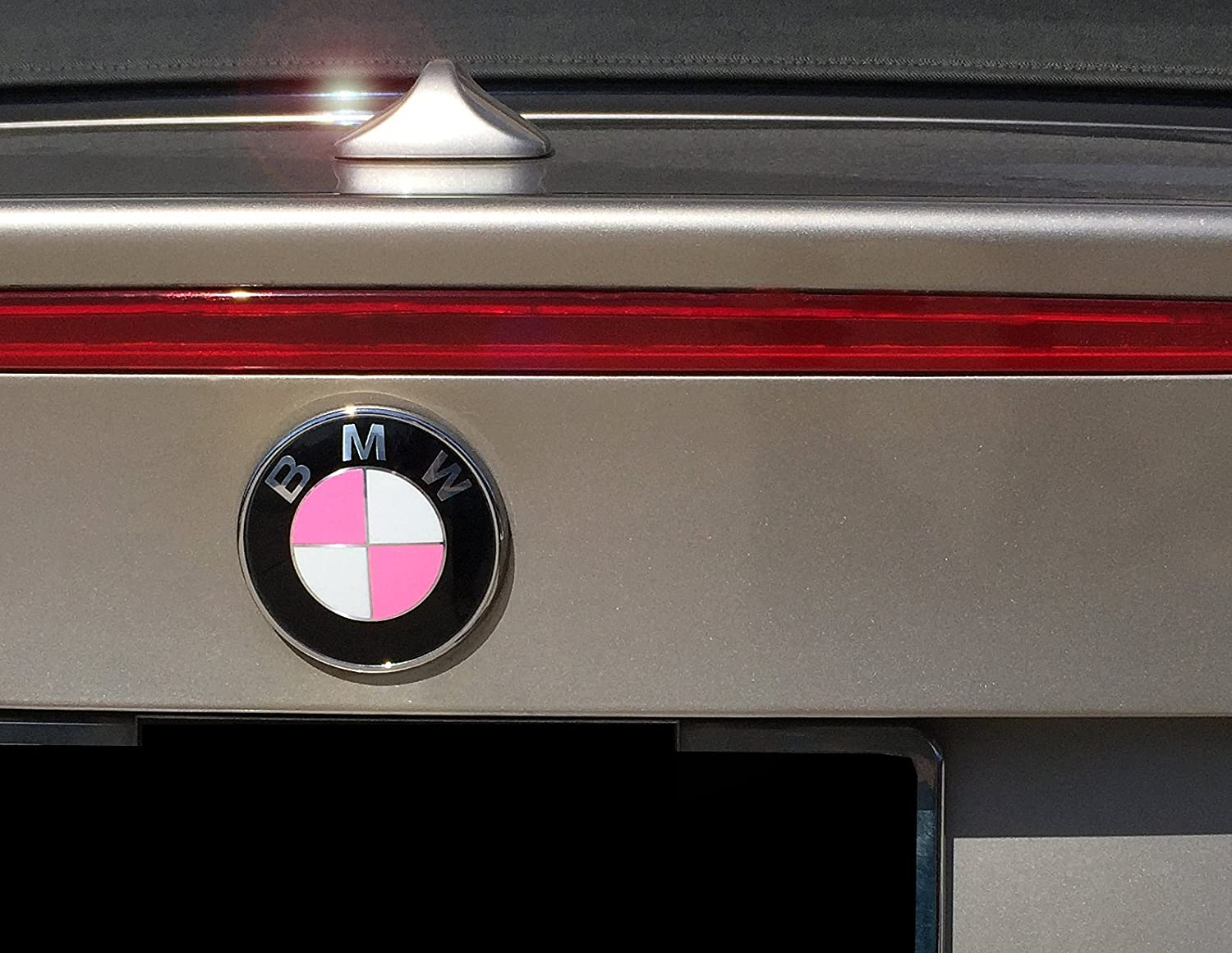 by Air Advance Breast Cancer Awareness fits BMW Fits Almost All BMWs Gloss Pink Vinyl Emblem Covers and Ribbon Decals