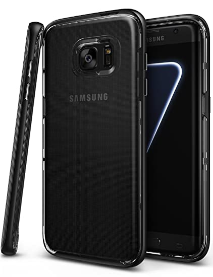 Ringke [Frame] Compatible with Galaxy S7 Edge Case Reinforced Dual-Layered Guard Bumper [SF Black] Resilient Incomparably Natural Contour Patented & ...