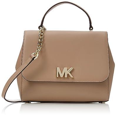 69f248f7a35660 Michael Kors Womens Mott Satchel Beige (TRUFFLE): Amazon.co.uk: Shoes & Bags