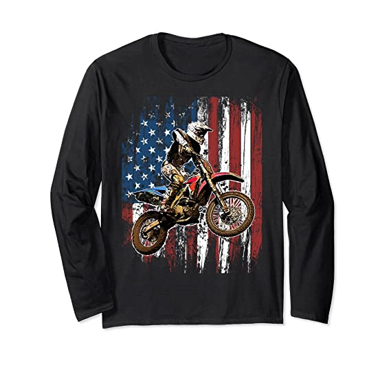 Amazoncom Dirt Bike Racing Motocross Racing Long Sleeve T Shirts