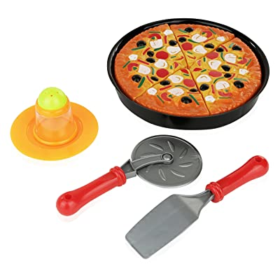 11 Piece Pizza Set for Kids; Play Food Toy Set; Great for a Pretend Pizza Party; Fast Food Cooking And Cutting Play Set Toy.: Toys & Games