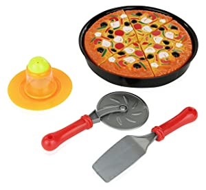 11 Piece Pizza Set for Kids; Play Food Toy Set; Great for a Pretend Pizza Party; Fast Food Cooking And Cutting Play Set Toy.