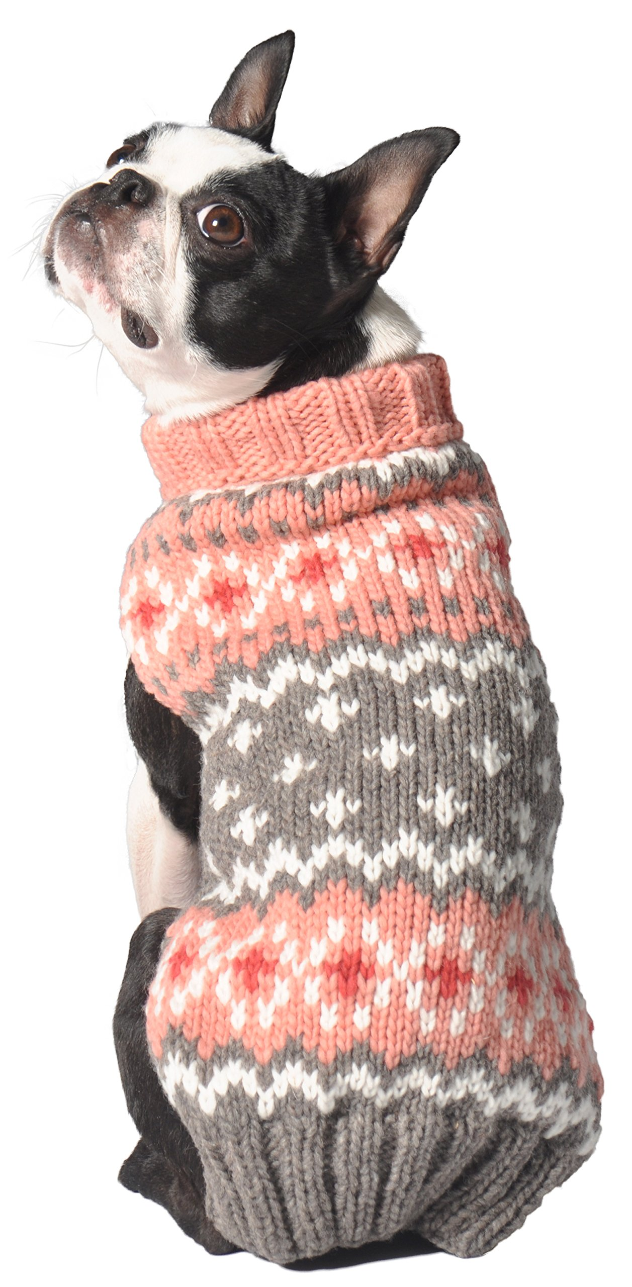 Chilly Dog Rose Fair isle Sweater, Large by Chilly Dog