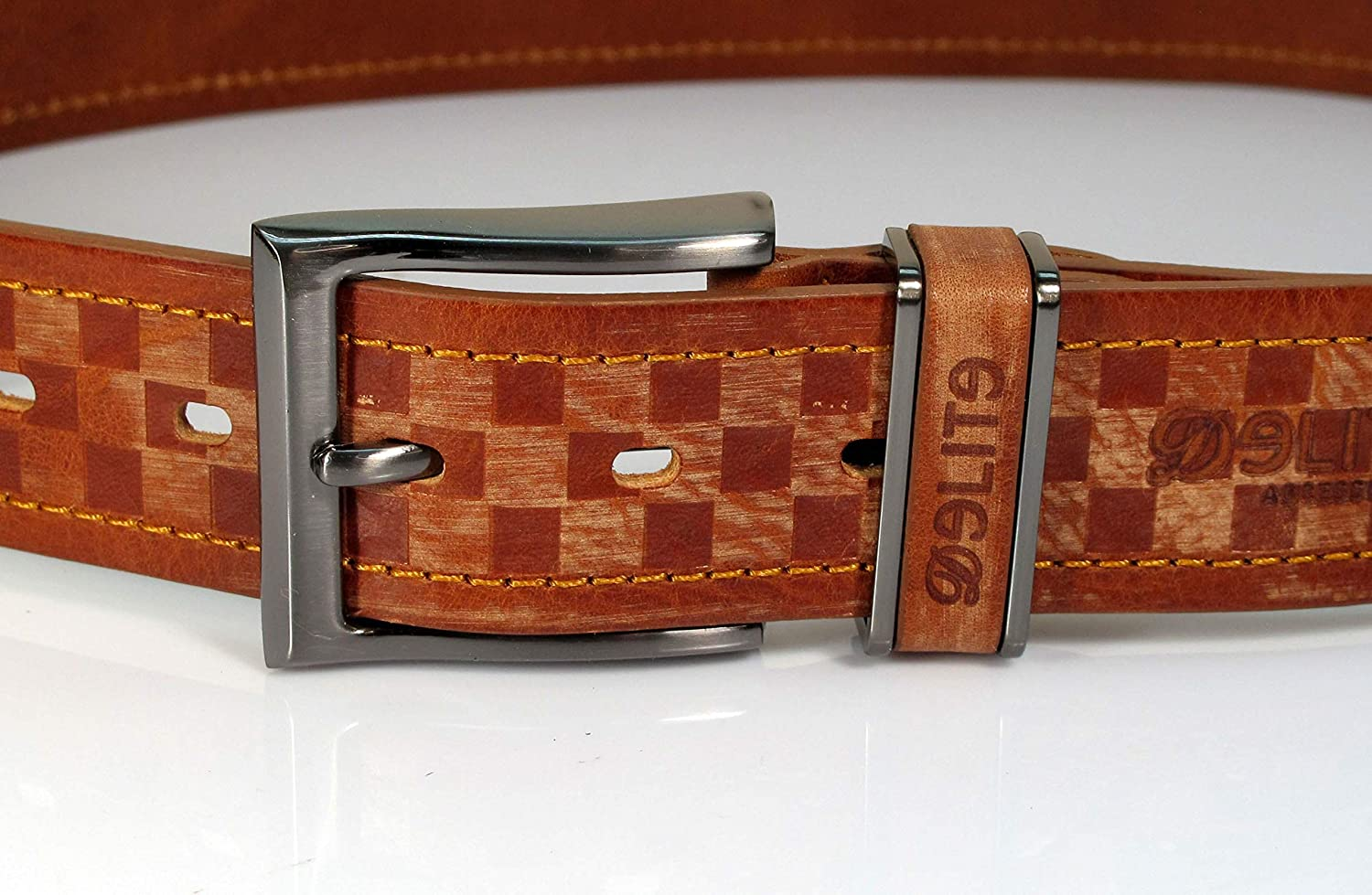 CW1 Womens Real Genuine Leather Tan Brown Belt 1.5 Wide S-XL Thick Casual Jeans
