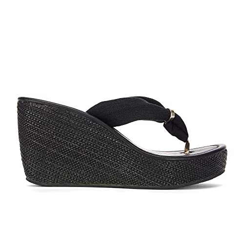 93c5d222b Peggy Womens Black Trendy Wedge Sandals - Casual   Comfortable   Fashion -  Perfect Dress Shoes