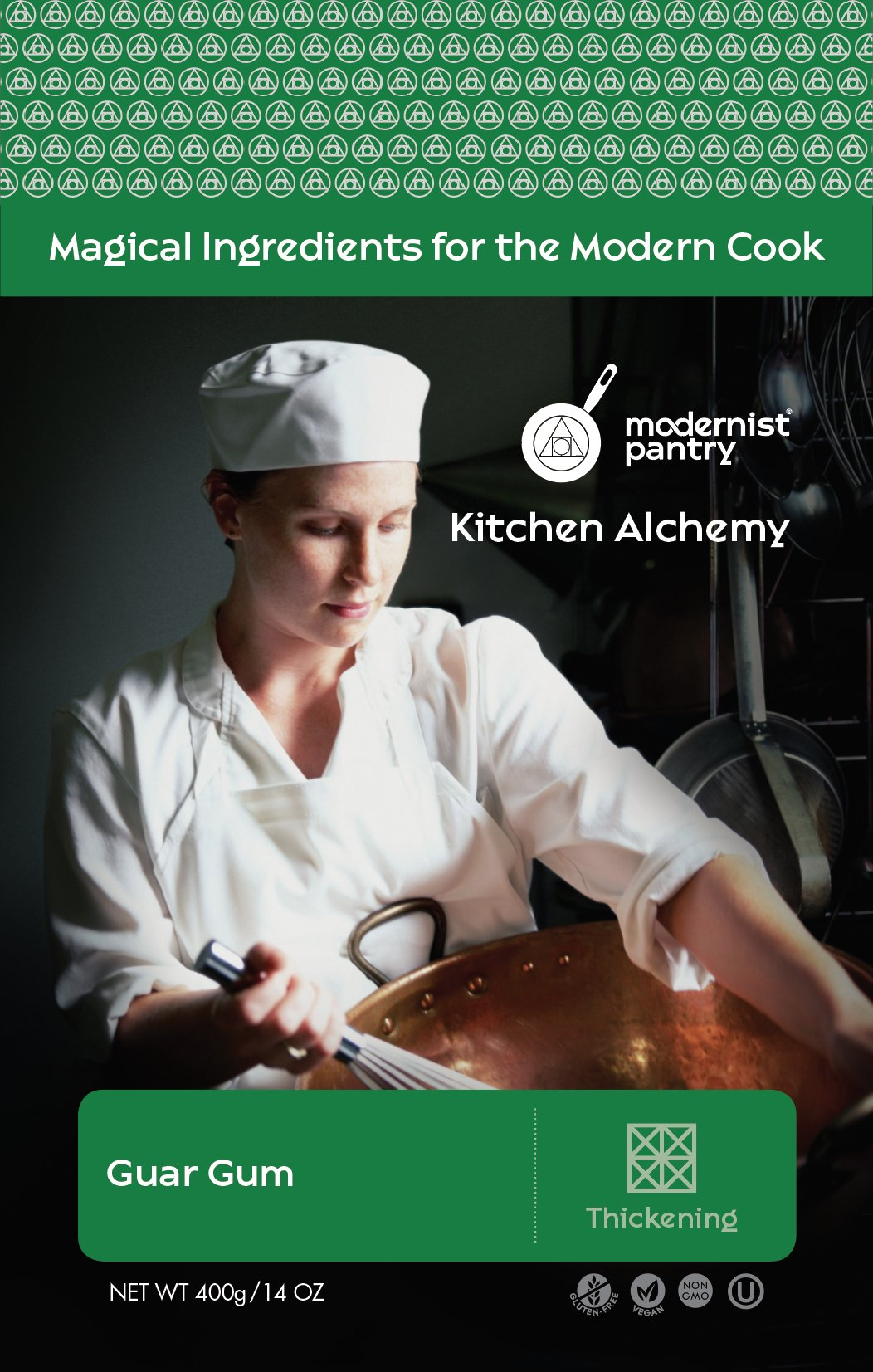 Food Grade Guar Gum (Molecular Gastronomy) ⊘ Non-GMO ☮ Vegan ✡ OU Kosher Certified - 400g/14oz