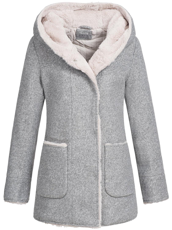 Liso Chaquetas Chaqueta Sublevel para Ropa abrigo de Mujer ilPZTOkuwX