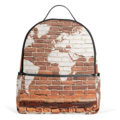 Jstel kids backpack childrens day gift antique wall brick world jstel kids backpack childrens day gift antique wall brick world map graffiti school backpacks for boys gumiabroncs