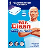 Mr. Clean Magic Eraser Kitchen & Dish Scrubber Cleaning Sponge 4ct.